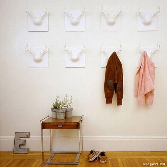 Ghost antler coat rack