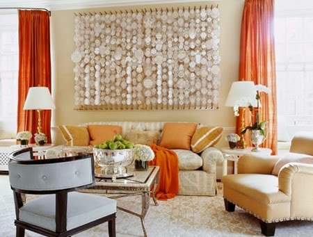Jeffrey Bilhuber Orange Curtains